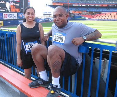 Gerrard and Blossom at Mets Run 2005